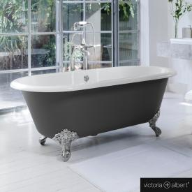 Victoria + Albert Cheshire freestanding bath anthracite/white, with chrome-plated metal feet