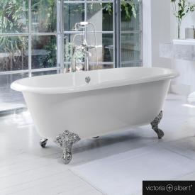 Victoria + Albert Cheshire freestanding bath white, with chrome-plated metal feet