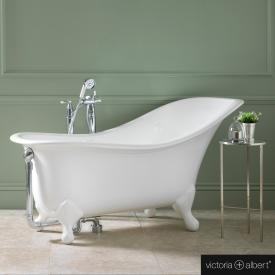 Victoria + Albert Drayton freestanding bath white, with white QUARRYCAST® feet