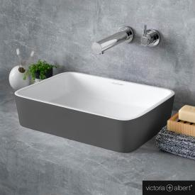 Victoria + Albert Edge 45 countertop washbasin matt anthracite/white
