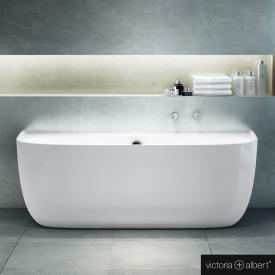 Victoria + Albert Eldon special shaped bath white gloss/interior white gloss, with overflow