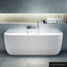 Victoria + Albert Eldon special shaped bath white gloss/interior white gloss, without overflow