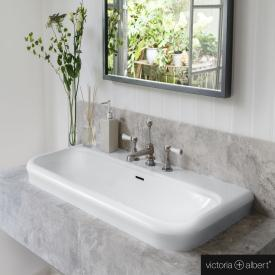 Victoria + Albert Lario 100 Solo drop-in washbasin white, with 3 tap holes