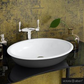 Victoria + Albert Radford 51 countertop washbasin matt anthracite/white