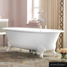 Victoria + Albert Radford freestanding bath white, with white QUARRYCAST® feet