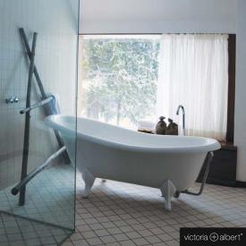 Victoria + Albert Roxburgh freestanding bath white, with white QUARRYCAST® feet