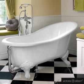 Victoria + Albert Shropshire freestanding bath with white QUARRYCAST® ball & claw feet