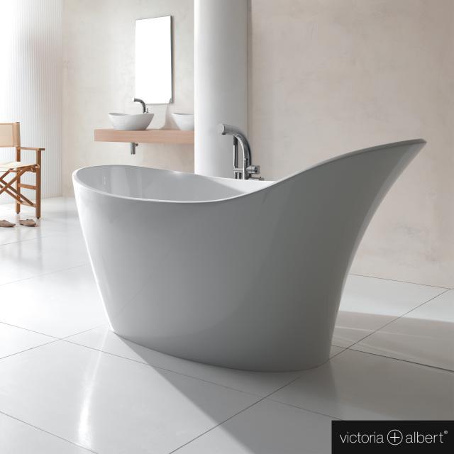 Victoria + Albert Amalfi freestanding oval bath white gloss/interior white gloss
