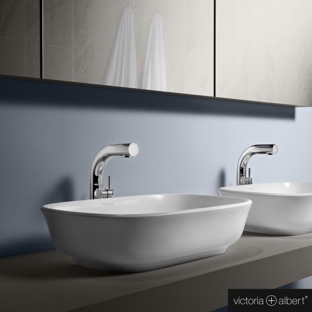 Victoria + Albert Amiata 60 countertop washbasin white gloss/interior white gloss