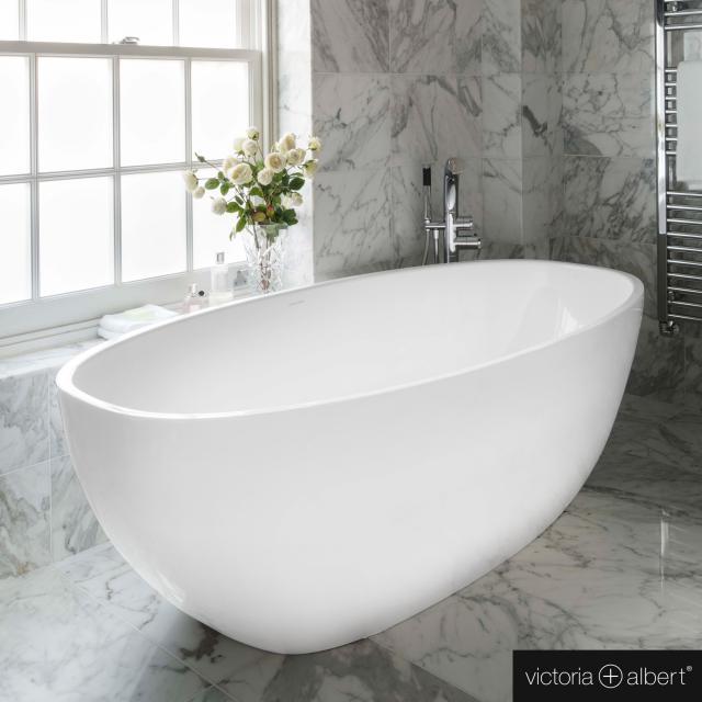 Victoria + Albert Barcelona freestanding oval bath white gloss/interior white gloss