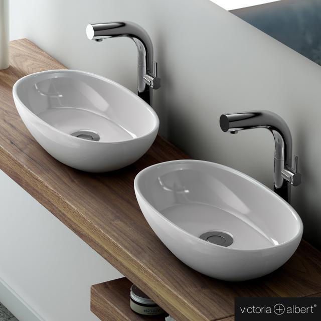 Victoria + Albert Barcelona 48 countertop washbasin white gloss/interior white gloss