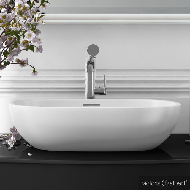 Victoria + Albert Barcelona 55 countertop washbasin white gloss/interior white gloss