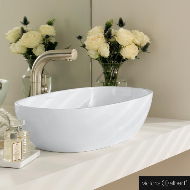 Victoria + Albert Barcelona 64 countertop washbasin white gloss/interior white gloss