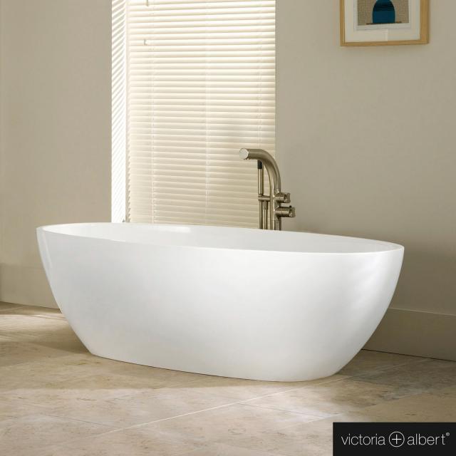 Victoria + Albert Barcelona Classic freestanding oval bath white gloss/interior white gloss