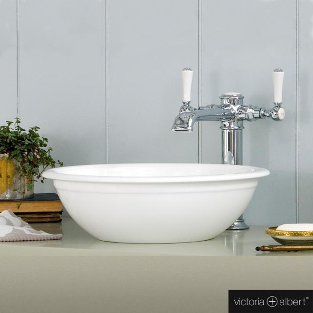 Victoria + Albert Drayton 40 countertop washbasin white gloss/interior white gloss