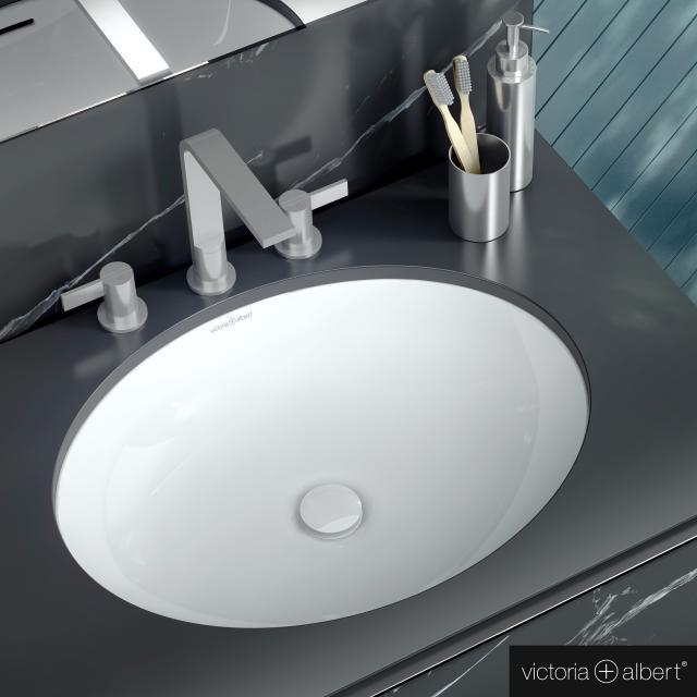 Victoria + Albert Kaali built-in washbasin white
