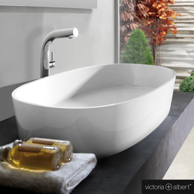 Victoria + Albert Ios countertop washbasin white gloss/white gloss