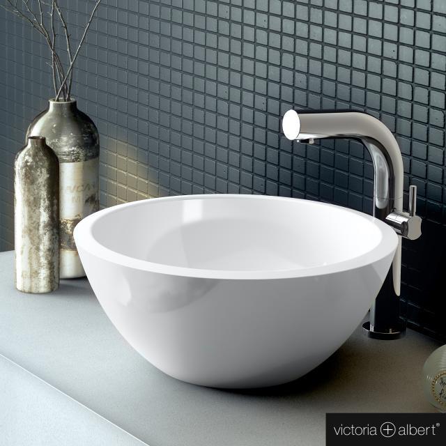 Victoria + Albert Maru 42 countertop washbasin white gloss/interior white gloss