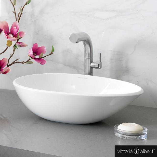 Victoria + Albert Napoli 57 countertop washbasin white gloss/interior white gloss