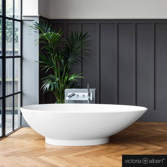 Victoria + Albert Napoli freestanding oval bath white gloss/interior white gloss