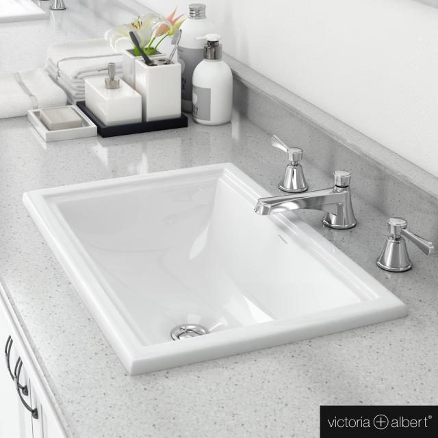 Victoria + Albert Pembroke 52 drop-in washbasin white
