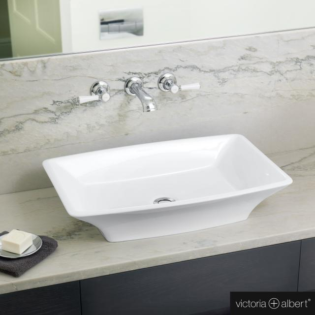 Victoria + Albert Ravello 60 countertop washbasin white gloss/interior white gloss