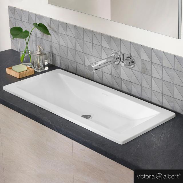 Victoria + Albert Rossendale drop-in washbasin white