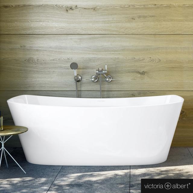 Victoria + Albert Trivento freestanding rectangular bath white gloss/interior white gloss