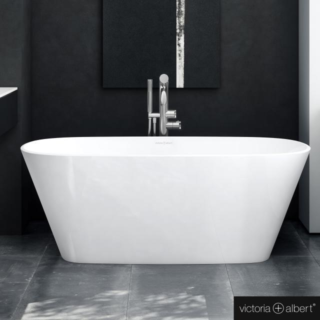 Victoria + Albert Vetralla 1500 freestanding oval bath white gloss/interior white gloss