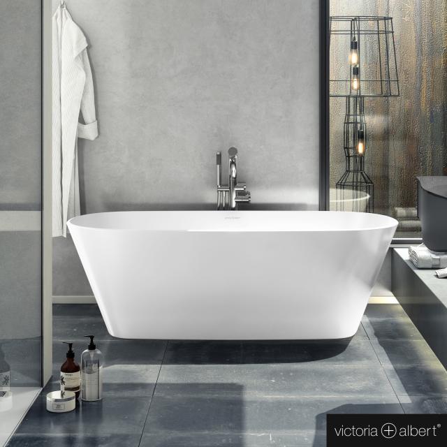 Victoria + Albert Vetralla 1650 freestanding oval bath white gloss/interior white gloss
