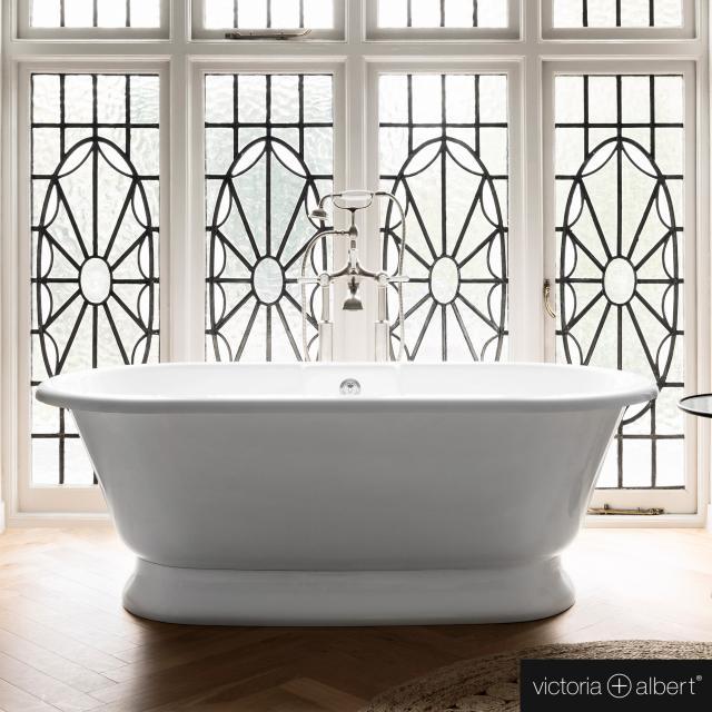 Victoria + Albert York freestanding oval bath white gloss/interior white gloss