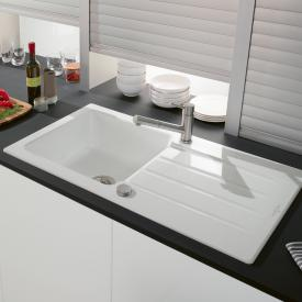 Villeroy & Boch Architectura 60 built-in sink with draining board white alpine/position borehole 2