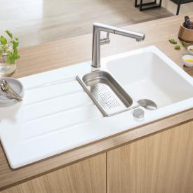 Villeroy & Boch Architectura 60 XR built-in sink with drainer and eccentric actuation snow white/borehole position 1 and 2