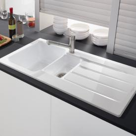 Villeroy & Boch Architectura 60 XR built-in sink with draining board white alpine/position borehole 1
