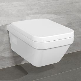 Villeroy & Boch Architectura Combi-Pack wall-mounted washdown toilet, open rim, toilet seat white, with CeramicPlus