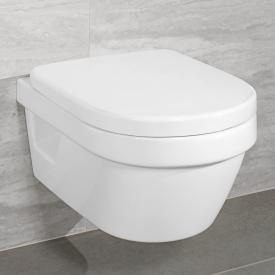 Villeroy & Boch Architectura wall-mounted washdown toilet, open flush rim white, with CeramicPlus and AntiBac