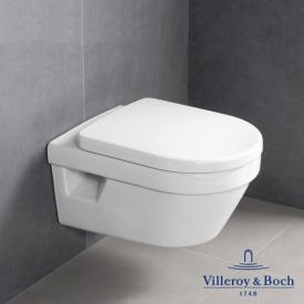 Villeroy & Boch Architectura wall-mounted washdown toilet, open rim, toilet seat white, with CeramicPlus