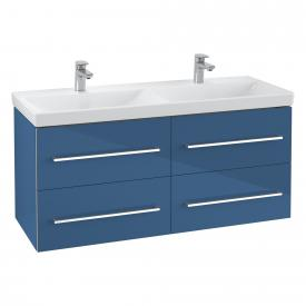 Villeroy & Boch Avento double vanity unit with 4 pull-out compartments front crystal blue / corpus crystal blue