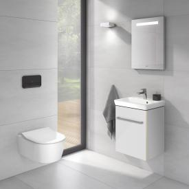 Villeroy & Boch Avento hand washbasin with vanity unit and More to See One mirror