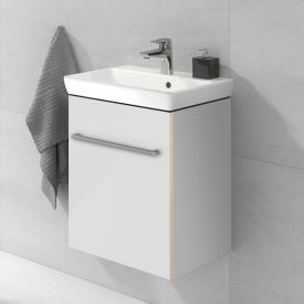Villeroy & Boch Avento hand washbasin with vanity unit with 1 door front crystal white / corpus crystal white