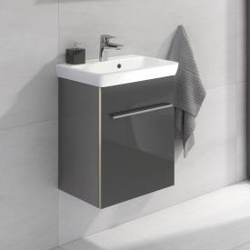 Villeroy & Boch Avento Meuble sous-lavabo avec 1 porte Façade gris cristal/corps du meuble gris cristal