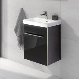 Villeroy & Boch Avento Meuble sous-lavabo avec 1 porte Façade noir cristal/corps du meuble noir cristal