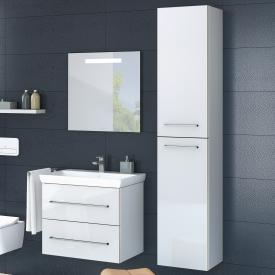 Villeroy & Boch Avento tall unit with 2 doors front crystal white / corpus crystal white