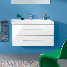 Villeroy & Boch Avento vanity unit with 2 pull-out compartments front crystal white / corpus crystal white