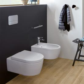 Villeroy & Boch Avento wall-mounted washdown toilet, DirectFlush, with toilet seat, Combi-Pack white, with CeramicPlus