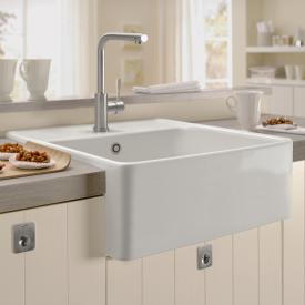 Villeroy & Boch butler single-bowl sink white alpine high gloss/position borehole 2