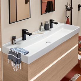 Villeroy & Boch Collaro double vanity washbasin white, with CeramicPlus, without overflow