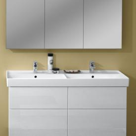 Villeroy & Boch Collaro double vanity washbasin white, with CeramicPlus, with 2 tap holes, with overflow