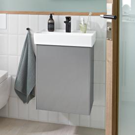 Villeroy & Boch Collaro hand basin vanity unit with 1 door front glossy grey / corpus glossy grey