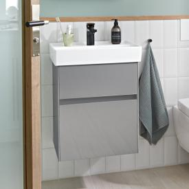 Villeroy & Boch Collaro hand vanity unit with 2 pull-out compartments front glossy grey / corpus glossy grey, recessed handle matt anthracite